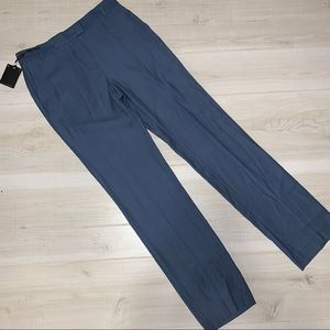 Massimo Dutti blue wool blend high rise pants